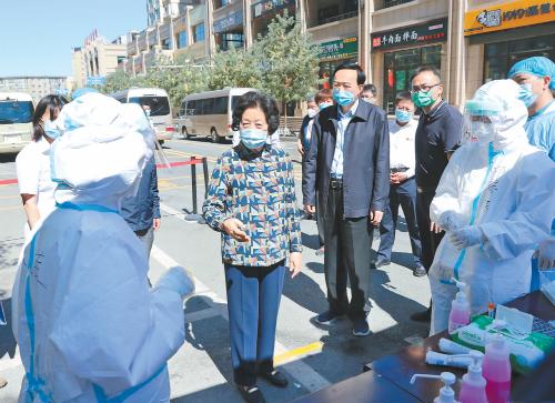 孙春兰在新疆调研时强调 以科学精准措施遏制疫情扩散